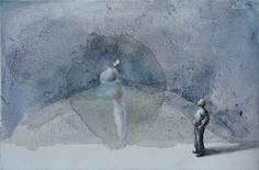 "Łukasz Huculak, ""Dissocia"", temper on paper, polish art"