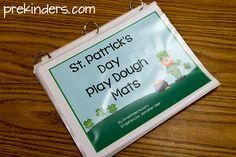 St. Patrick's Day Playdough Math Mats (free; from PreKinders)