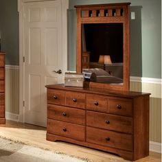 Standard Furniture Orchard Park 6 Drawer Dresser with Mirror
