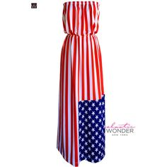 American Flag Usa Fourth of July Stars and Stripes Strapless Maxi... (17.760 RUB) ❤ liked on Polyvore featuring dresses, black, women's clothing, strapless beach dress, black wrap dress, black striped dress, wrap dress and beach maxi dress