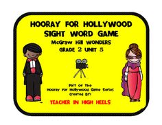 This is a sight word game for Grade 2 Unit 5 of the McGraw-Hill Wonders reading series. Just print, laminate and cut out the card game. Great for centers or intervention blocks. All six units are available in the same format. Also available in this format, all levels of dolch sight words.