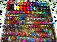 Collectable plastic charms oh my all mt allowance went to the store rhat sold them in my home town
