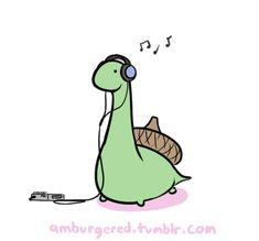 Sheldon the tiny dinosaur gif. Too cute!!! Plus, I'm watching whilst listening to Designer Skyline by Owl City ^_^
