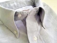 Vintage Men's Stuart Simon Grey Oxford Cloth by TheIvyLeagueShop, $35.00 Box Pleats, Button Down Collar, Shoulder Sleeve, Vintage Men, Ready To Wear, Oxford, Breast, Grey, Sleeves