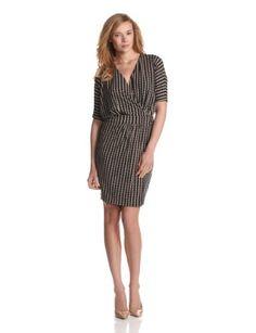 Vince Camuto Women`s Dolman Wrap Arch Stripe Dress - List price: $119.00 Price: $79.73 + Free Shipping