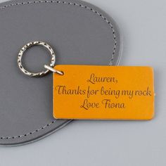 A personalised text leather keychain which would make a lovely thank you  gift for a best friend dee99f88a