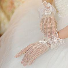 Bridal Gloves long gloves mesh gloves bow gloves selling models  $10.00