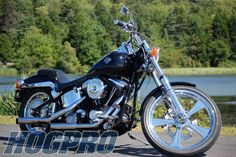 HogPro Panthers in 21 and 16 on a softail custom