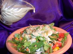 Goddess Salad Dressing If you are a fan of Annie's Organic (and vegan) Goddess Dressing, here is a make-it-yourself recipe!If you are a fan of Annie's Organic (and vegan) Goddess Dressing, here is a make-it-yourself recipe! Tahini Salad Dressing, Salad Dressing Recipes, Salad Dressings, Salad Recipes, Healthy Cooking, Healthy Eating, Vegan Recipes, Cooking Recipes, Dessert
