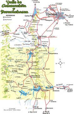 Calamuchita - Mapa