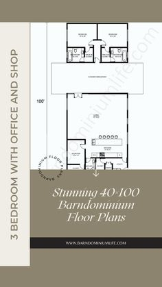 Barndominium's floor plan is one of the most important things one will come up with in the design process. Without having the right floor plan, none will be able to get everything they want from their barndo and this can defeat the whole purpose of the project. In this attached article, we have put together some amazing examples of a 40×100 barndominium floor plan to help get you inspired. You might even find the perfect floor plan here and from there on out, your work is done! 3 Bedroom Floor Plan, Barndominium Floor Plans, Design Process, Flooring, How To Plan, Purpose, Inspired, Amazing, Barndominium Plans