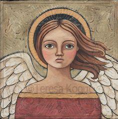 """""""Oh My Soul"""" Original #Angel #Painting by Teresa Kogut"""