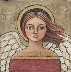 """Oh My Soul"" Original #Angel #Painting by Teresa Kogut"