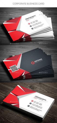 Corporate Business Card — Photoshop PSD #abstract #card • Available here → https://graphicriver.net/item/corporate-business-card/13548510?ref=pxcr