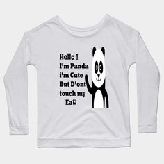 cute panda christmas gift birthday panda costume - Panda Christmas Pajama Xmas Gift Idea - Long Sleeve T-Shirt | TeePublic