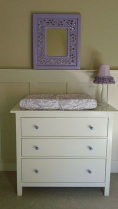 Love this - find a cheap mirror/frame and spray paint it lavender.