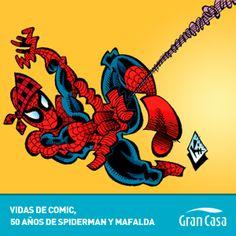¿Habéis visto qué bien le sienta el cachirulo a Spiderman?   ¡Podéis ver ésta y otras imágenes de Spiderman y Mafalda en nuestra exposición en Venimira hasta el día 17!
