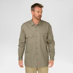 Dickies Men's Big & Tall Original Fit Long Sleeve Twill Work Shirt-