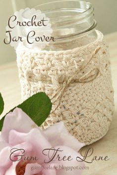 crochet jar cover tutorial.....free pattern