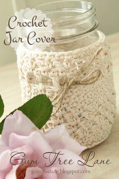 crochet jar cover tutorial.....free pattern