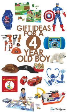 Preschooler toys - Present ideas for a four year old boy