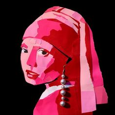 valentine paper girl with a pearl earring by Jesse Draper, via Flickr