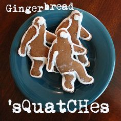 Gingerbread 'Squatches: Bigfoot Cookies! dad would love this lol!!!