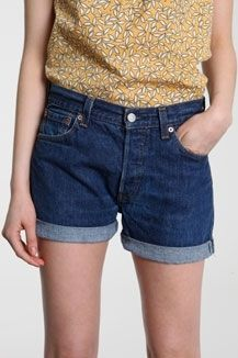 Urban Outfitters - Renewal Levi`s 501® Turn Up Denim Shorts - StyleSays