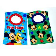 Disney Mickey Towel Bibs, Pack of 2