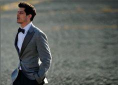 corbata de lazo Novios con corbata de lazo, una tendencia