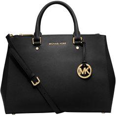 MICHAEL Michael Kors Sutton Large Leather Satchel Bag (€355) ❤ liked on  Polyvore 6fd222446ec