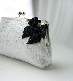 Natalie  Gorgeous ivory clutch by JuliaSherryDesigns on Etsy, $72.00