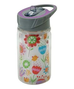 Loving this Happy Garden 10-Oz. Sports Bottle on #zulily! #zulilyfinds. $6.99. This would be perfect for me to take water out to the garden when I'm working!