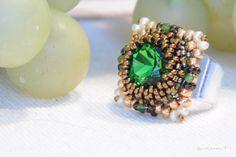 beaded Carree Ring