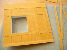 An advantage of using stencil card to simulate wood panelling is that, because it is relatively thin,layers can be built up without appeari...