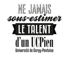 Marquage pour objets publicitaires et vêtements, université de Cergy-Pontoise
