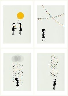 M+and+M+set+of+four+prints+by+blancucha+on+Etsy,+$75.00