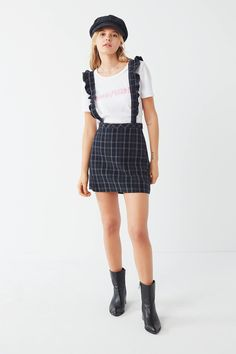 Shop UO Time After Time Plaid Suspender Skirt at Urban Outfitters today. We carry all the latest styles, colors and brands for you to choose from right here.