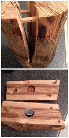 Very nicely done fake log with a film canister geocache inside.  (pics by kimbn11 on Instagram stitched together by I.B. Geocaching and pinned to Hollow Log Geocaches - https://www.pinterest.com/islandbuttons/hollow-log-geocaches/)  #IBGCp