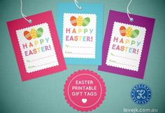 Happy easter gift tags free download from ellie bean design blog free easter gift tag printable negle Images