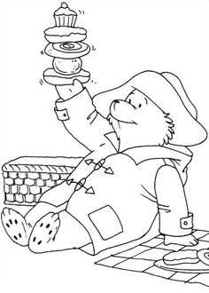 Paddington Bear Colouring Pages from Kids Colour In Books