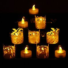 TBW LED Tea Lights Wedding Candles with TEA Light a Couple Dancing Wraps  Flickering Tealight LED Candles Battery Powered LED Wedding Lights Yellow *** This is an Amazon Affiliate link. Click on the image for additional details. Flameless Candles, Led Candles, Led Tea Lights, Pumpkin Carving, Dancing, Christmas Decorations, Wraps, Decor Ideas, Couple