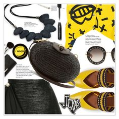 """BLACK & YELLOW"" by selmir ❤ liked on Polyvore featuring Ingie Paris, Malone Souliers, Primitives By Kathy, Roseanna, Khokho, Gucci and Bobbi Brown Cosmetics"