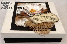caixa em scrap decor com carimbos para artesanato loucas por caixas - Loucas por caixas - Terra Fotolog