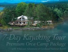 Ready for an adventure? Make your way to British Columbia Canada to join Wildcoast's kayaking and camping trip to see amazing wildlife including orca whales. Your trip will begin and end trip in the boutique luxury of Gowlland Harbour's wilderness resort!