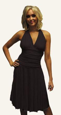 Stunning Marilyn Dress, Classic Halterneck Salsa Dress, Cocktail Dress in Black, Size 8 Fashion Victim http://www.amazon.com/dp/B007EWNGIK/ref=cm_sw_r_pi_dp_Kvx8ub1QJDD2K