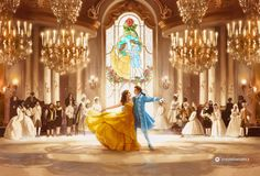 Image result for beauty and the beast 2017 fan art