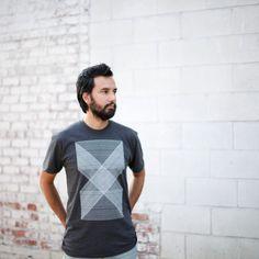 Palindromes Mens Graphic Tee - Geometric Modern Minimalist Shirt - Black