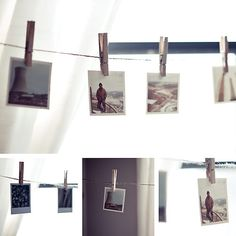 I think I'll do this in the kids playroom with all their cousins most recent photos. I'd like to eventually have the clustered frames layout with a bunch of different funky frames on one of the walls in there. Exposition Photo, Frame Layout, Deco Nature, Apartment Makeover, Photo Displays, Display Photos, Display Ideas, Hanging Photos, Decorating Your Home