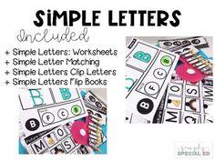 Simple Letters Bundle for Special Education